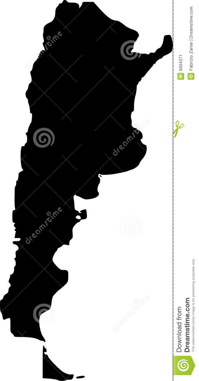 Vector Map Of Argentina Stock Vector Image Of Argentine - Argentina map vector