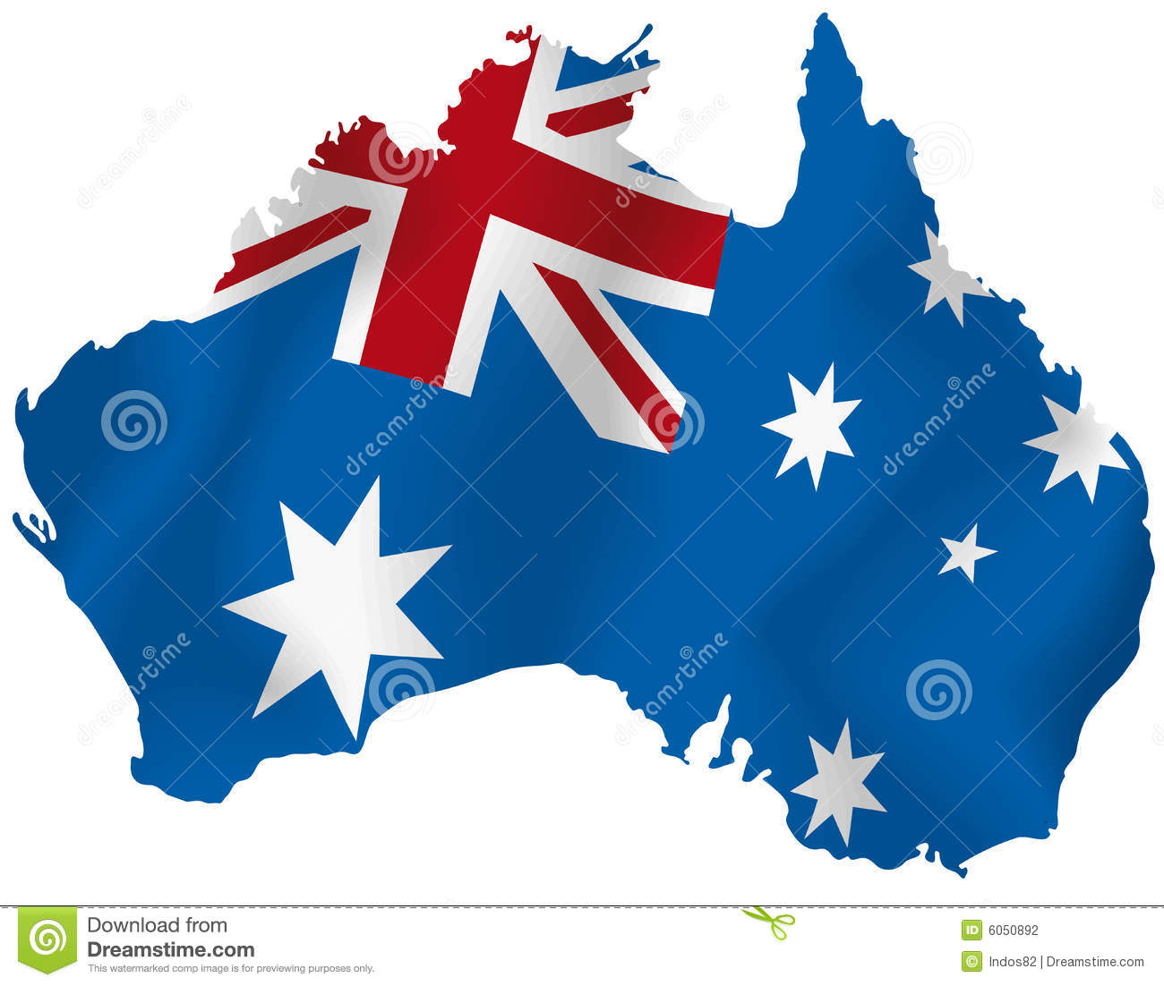 vector map of australia stock photography image 6050892