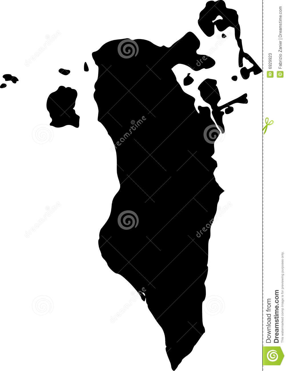 Vector Map Of Bahrain Stock Vector Illustration Of Great - Bahrain map vector