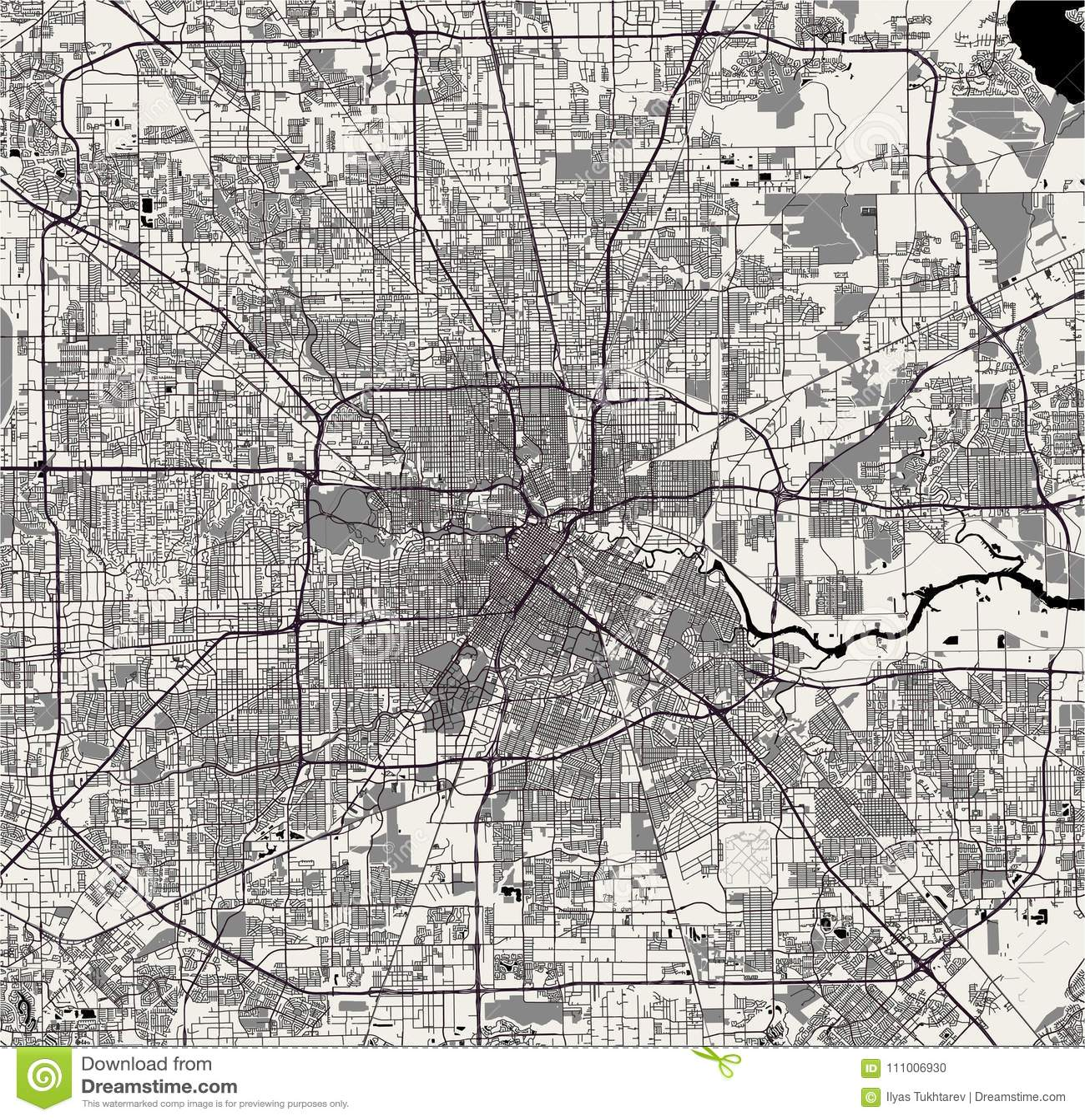 City Map Of Houston Texas on