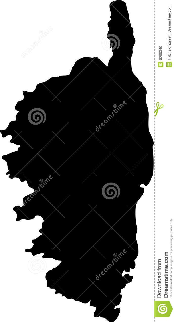 Carte Corse Vector.Vector Map Of Corsica Stock Vector Illustration Of French