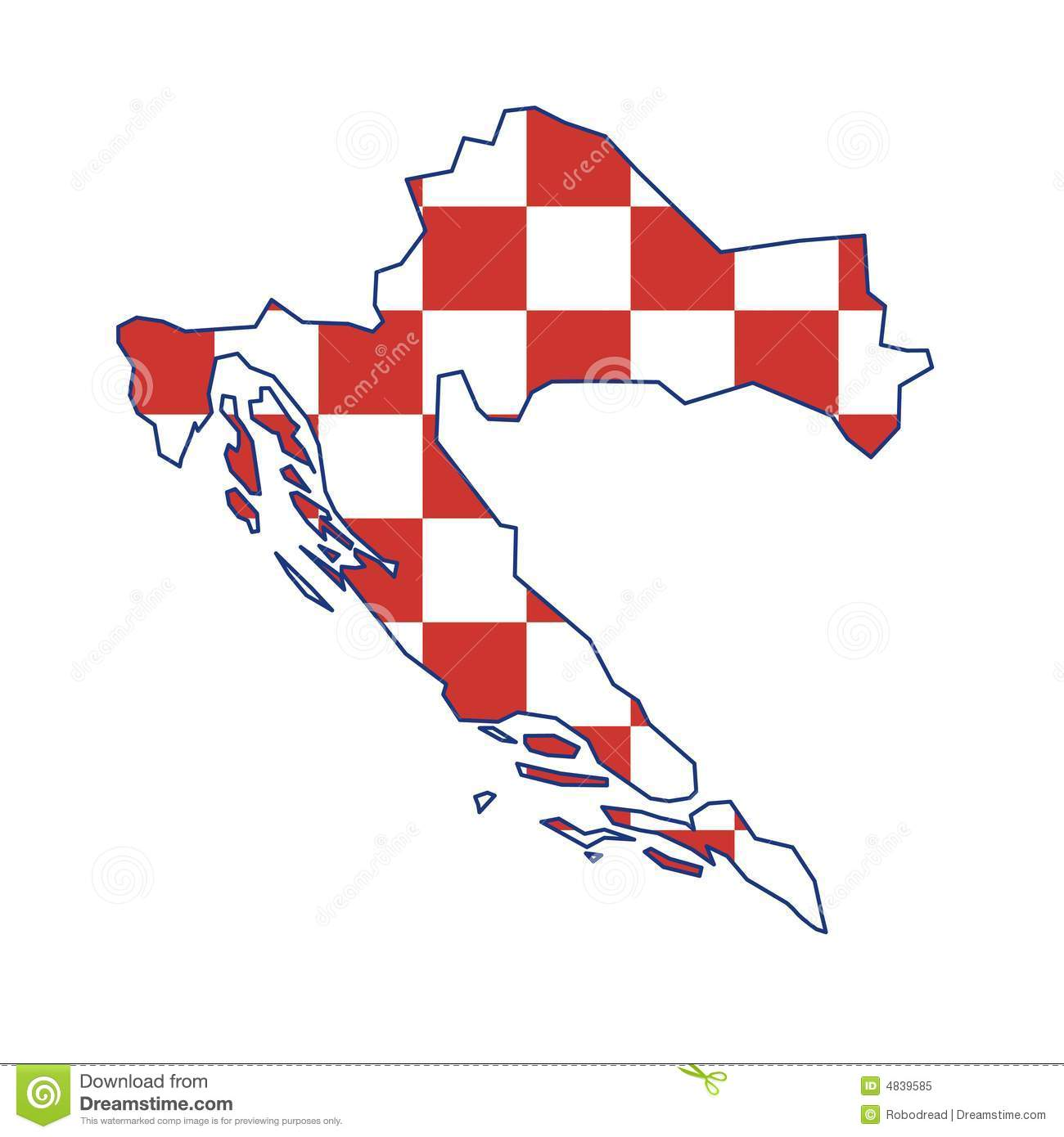 Vector map Croatia stock vector. Illustration of europe - 4839585