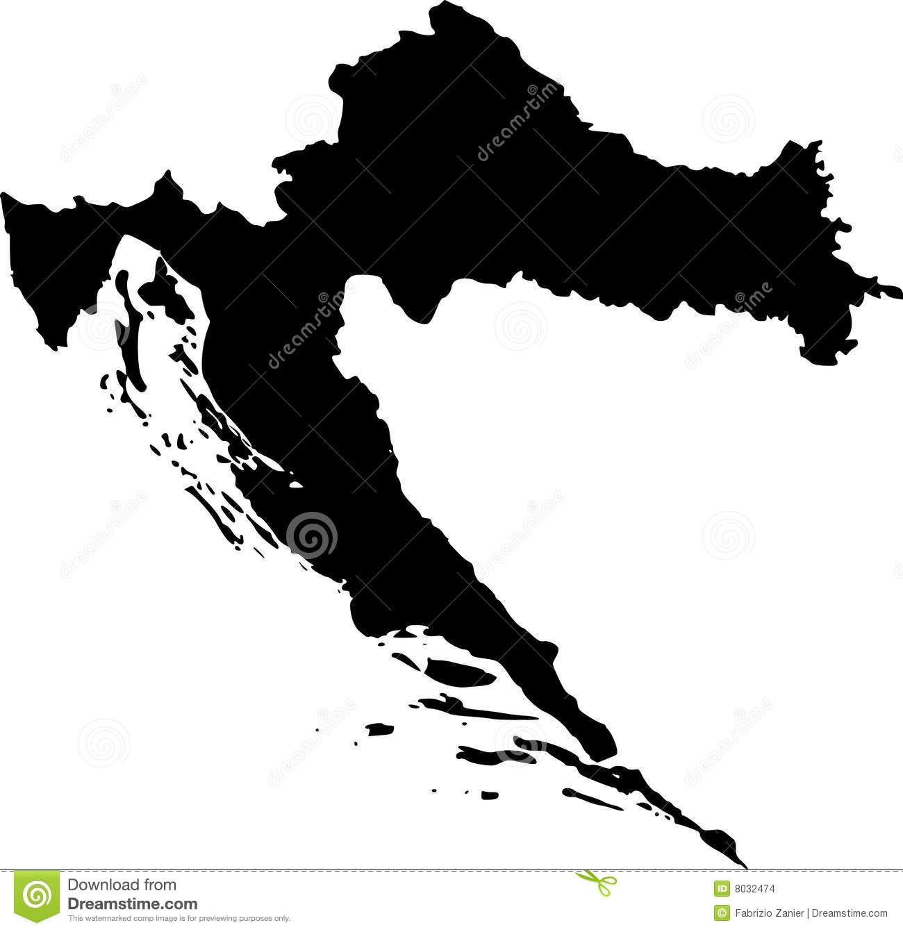 Vector map of croatia stock vector. Illustration of kingdom - 8032474