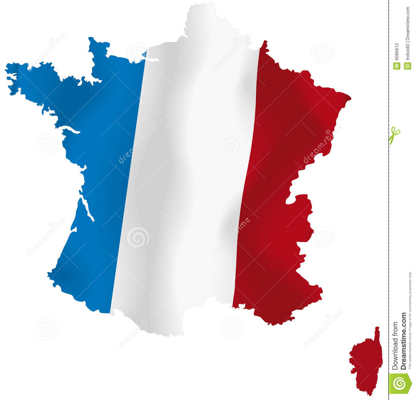 Vector Map Of France Stock Photography - Image: 6086612