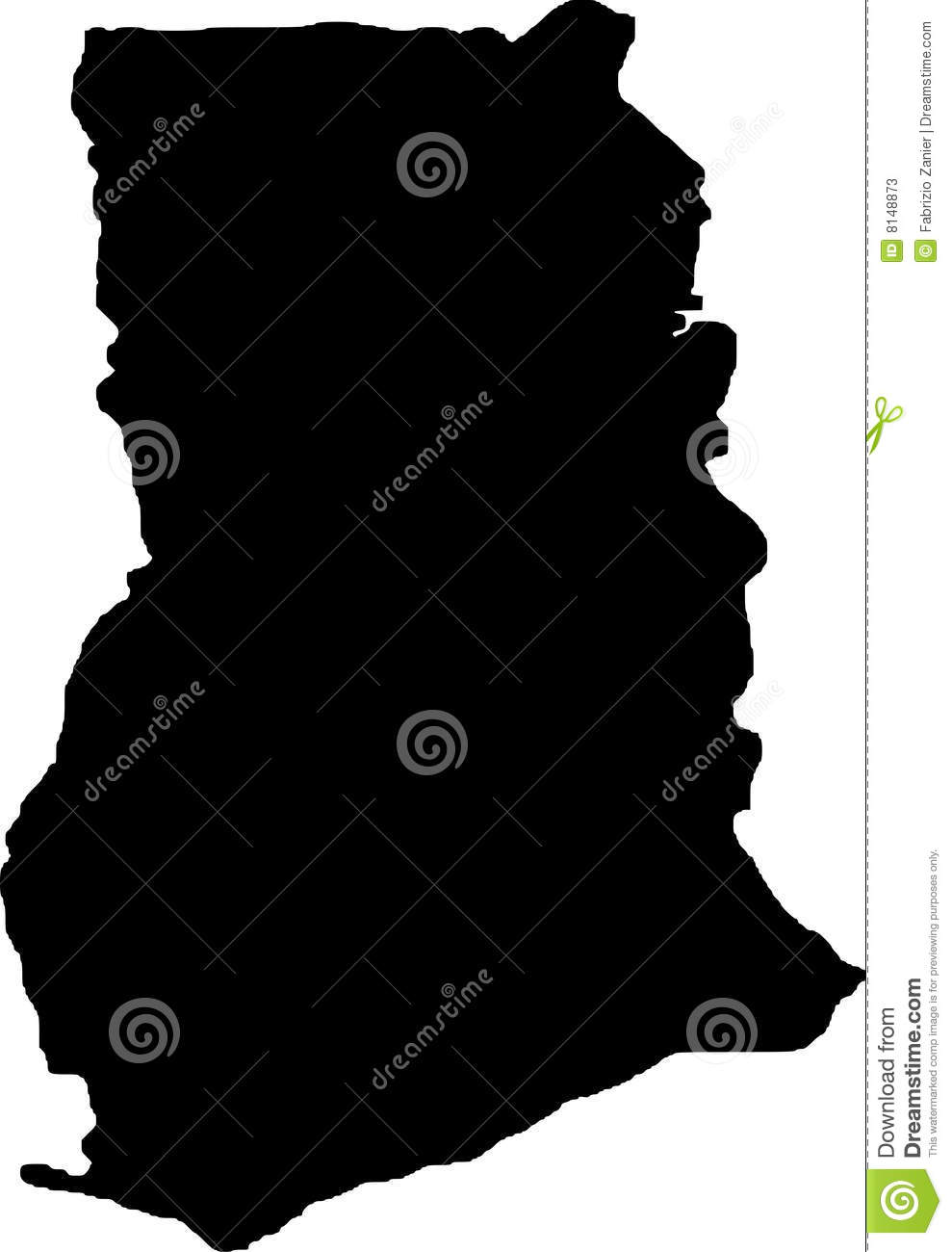 Vector Map Of Ghana Stock Vector Image Of Drawing Country - Ghana map vector