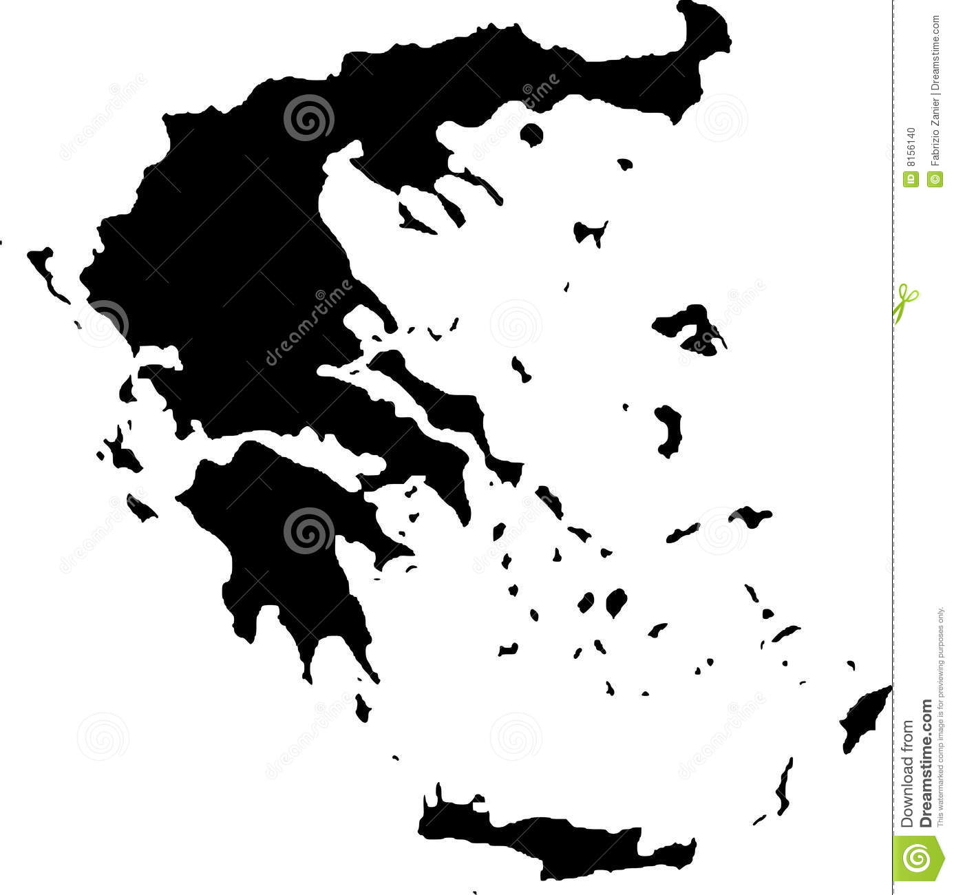 Vector map of greece stock vector. Illustration of land ...