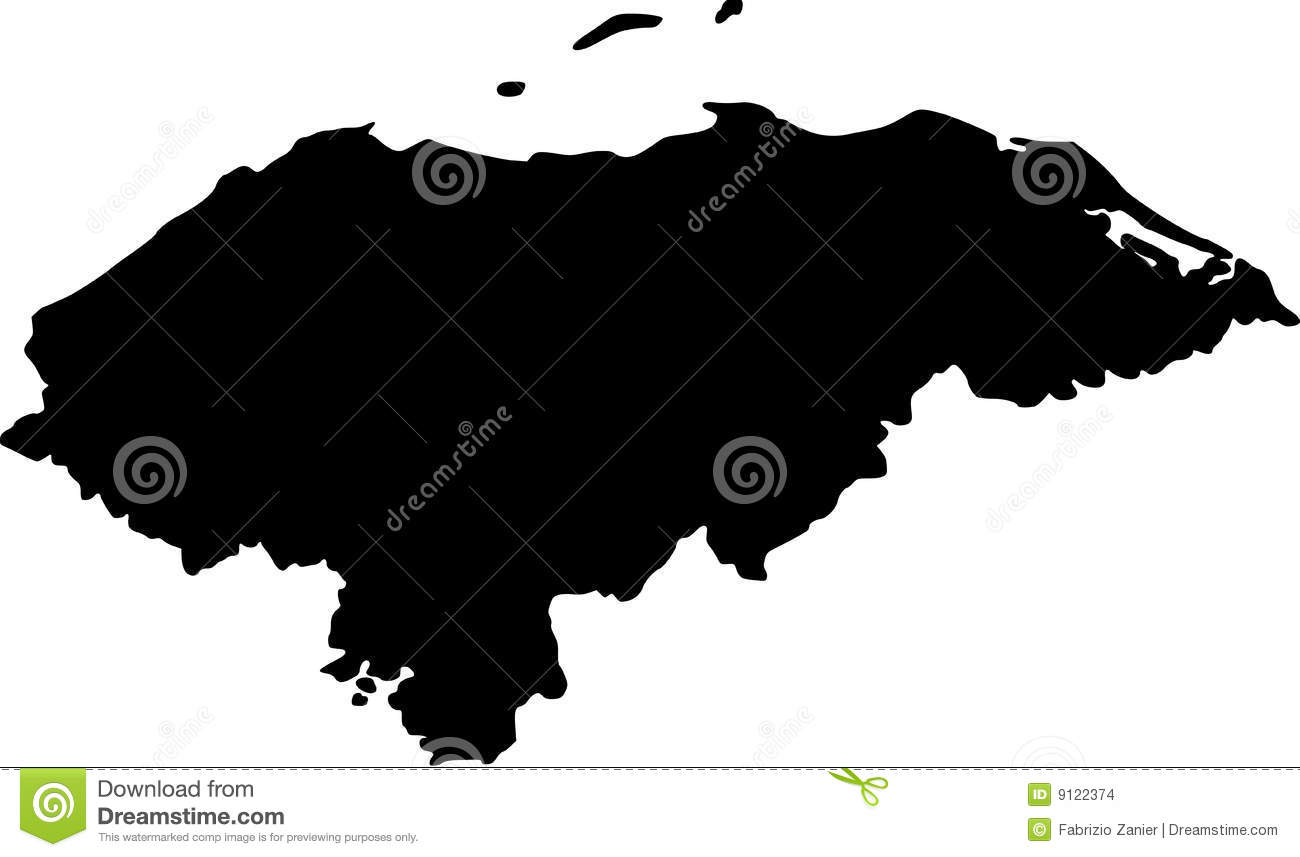 Vector Map Of Honduras Stock Images Image 9122374