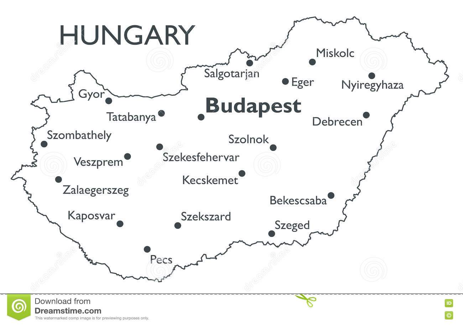 Vector map of Hungary stock vector. Illustration of szolnok ... on debrecen hungary map, sopron hungary map, kecskemet hungary map, szeged hungary map, budapest hungary map, pecs hungary map, ajka hungary map, bekescsaba hungary map, bratislava hungary map, vac hungary map, gyor hungary map, erd hungary map, papa hungary map, gyula hungary map, kaposvar hungary map, nyiregyhaza hungary map, pest hungary map, hungary on world map, magyar hungary map,