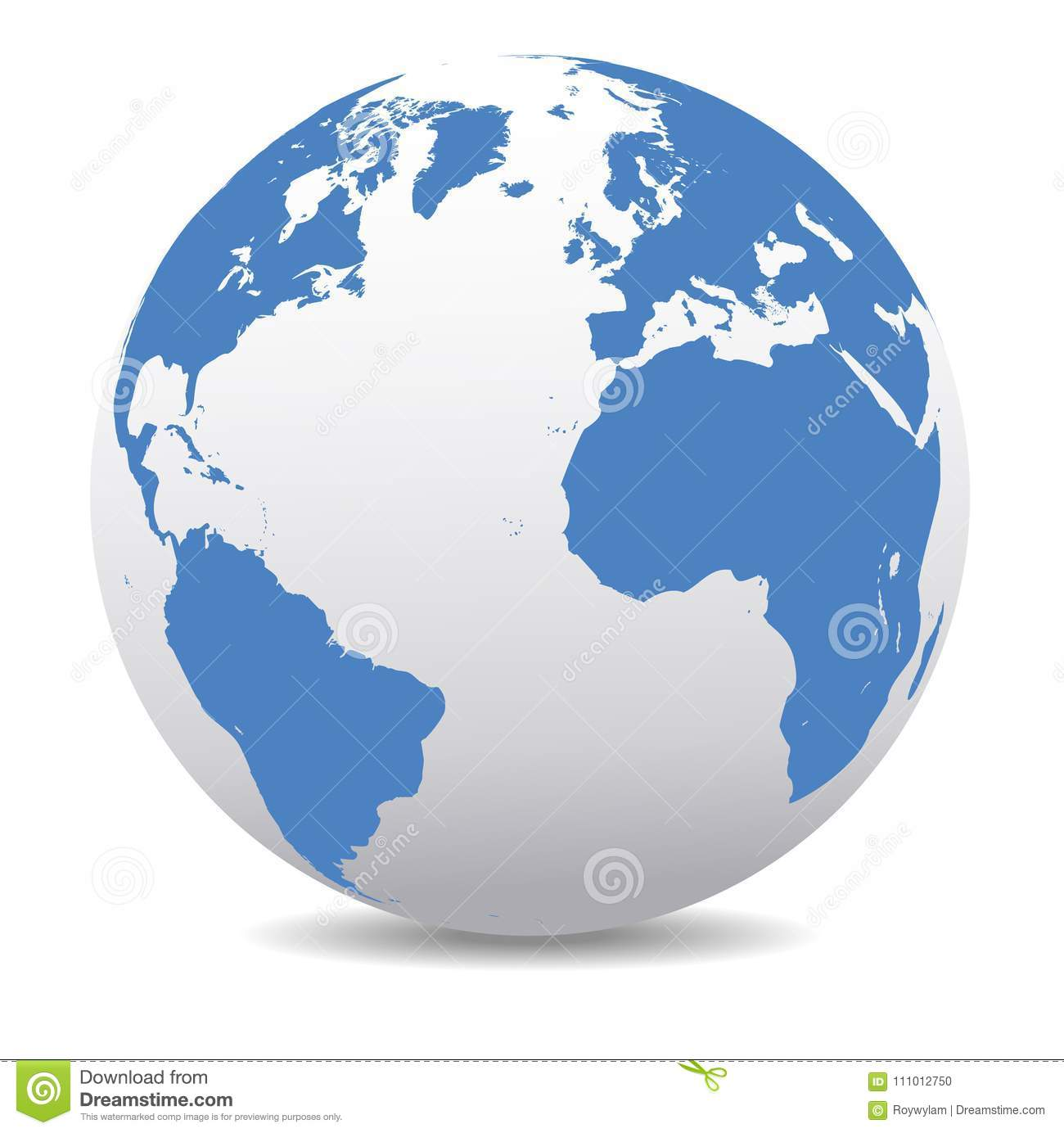 Europe, North And South America, Africa Global World Stock Vector ...