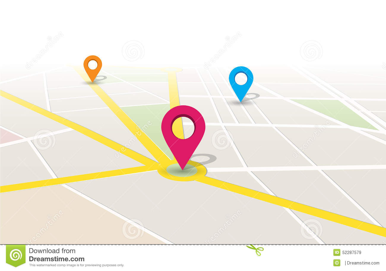 vector map location app stock vector image of devices