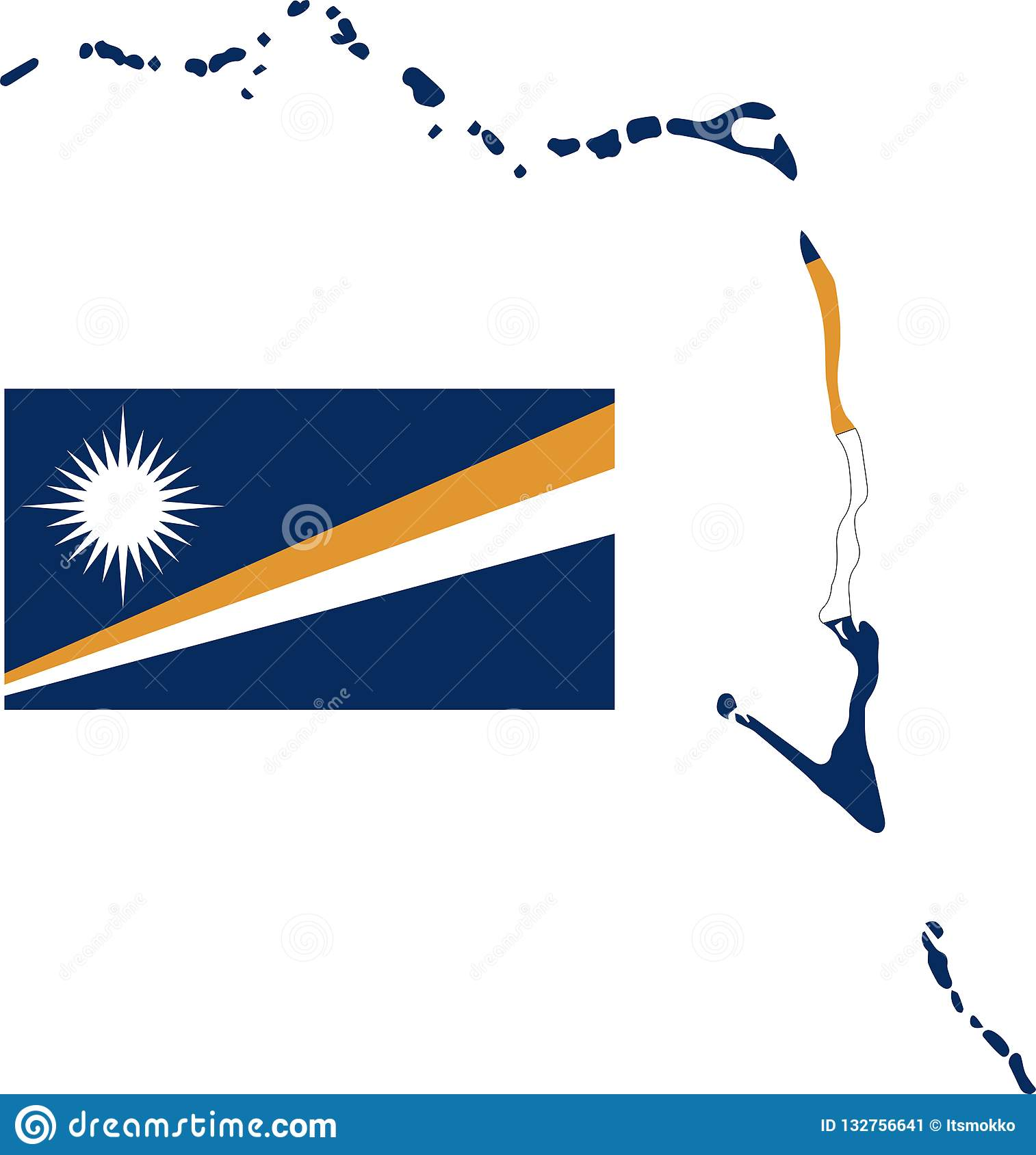 Vector Map Of Marshall Islands With Flag. Isolated, White ... on rwanda map, hawaii map, philippines map, belize map, northern mariana islands, american samoa, burma map, wake island, gilbert islands map, macau map, micronesia map, dominican republic map, east timor map, palau map, federated states of micronesia, solomon islands, mariana island map, egypt map, australia map, new caledonia, pacific map, alaska map, puerto rico map, new caledonia map, cook islands, oceania map, caroline islands map, papua new guinea,
