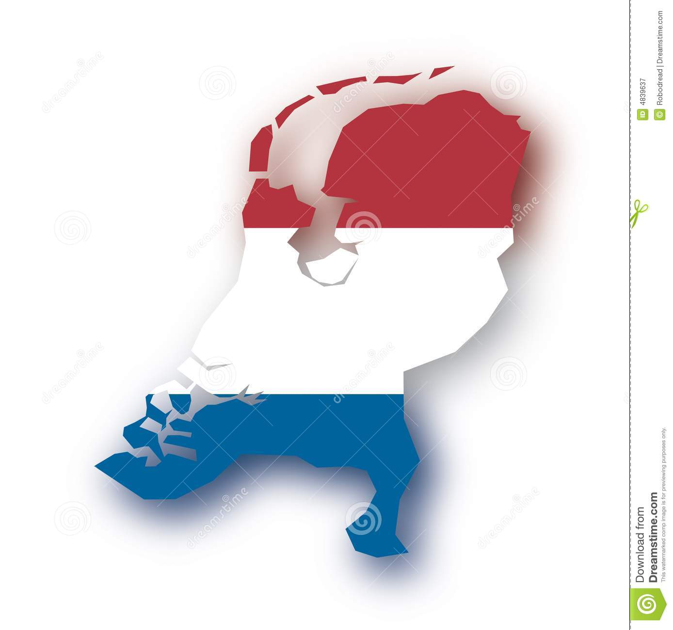 Vector Map Netherlands Royalty Free Stock Photography Image 4839637