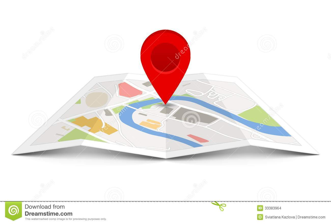 Pin Location Map Free Vector Graphic On Pixabay: Vector Map With Pin Pointer Stock Vector