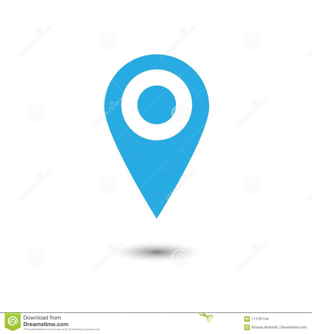 vector of map pointer icon gps location symbol flat design sty