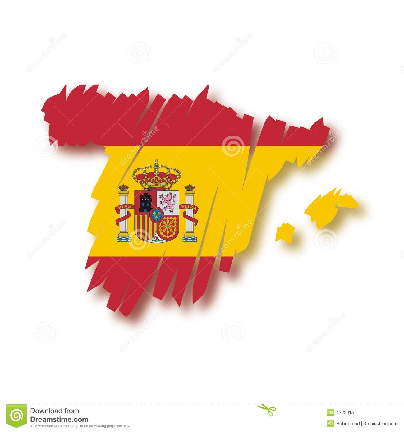 Map Of Spain To Color.Vector Map Spain Stock Vector Illustration Of Color Brush 4722915