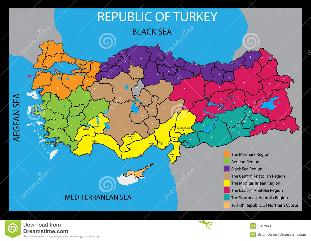 Vector Map Of Turkey Country Royalty Free Stock Photos - Image ...