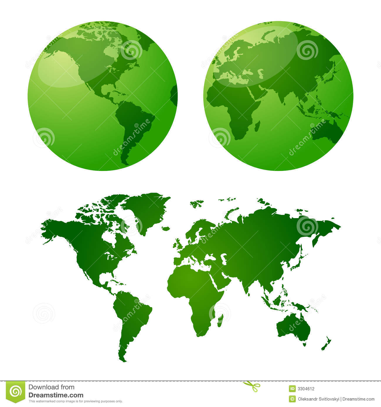 Vector maps of earth