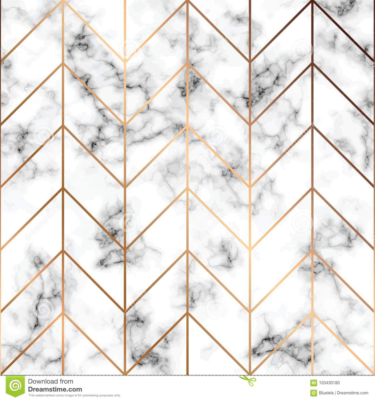 Vector marble texture, seamless pattern design with golden geometric lines, black and white marbling surface, modern luxurious