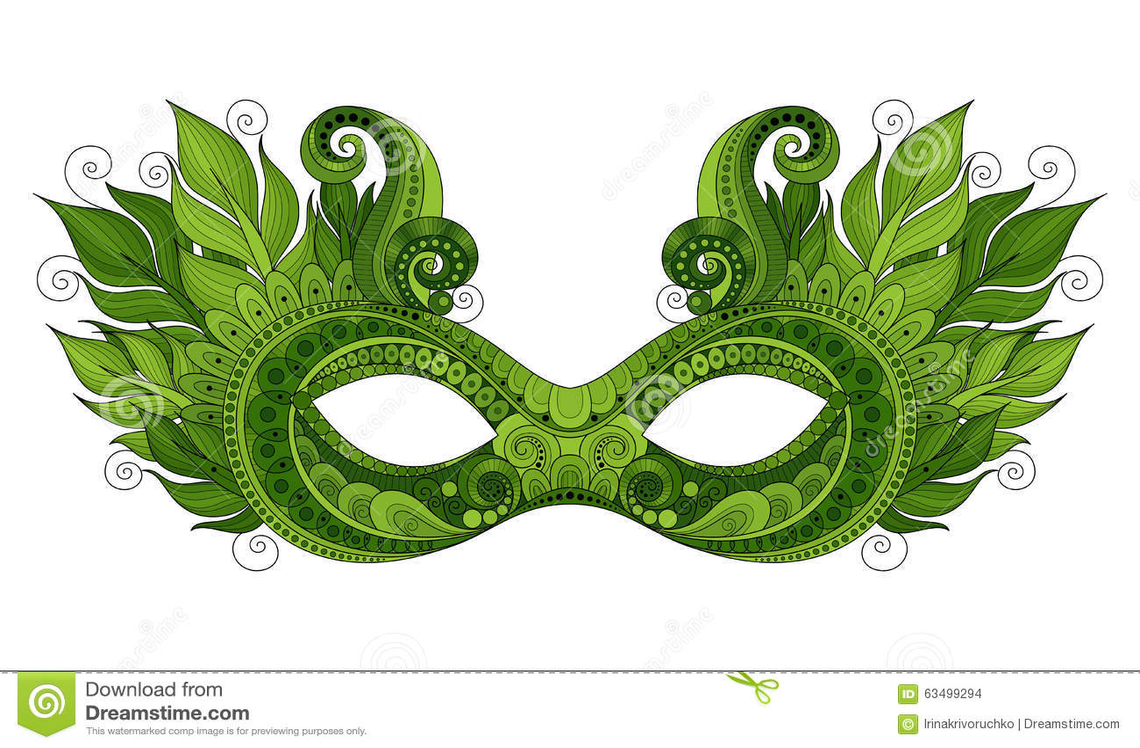 Vector Mardi Gras Carnival Mask Coloreado Adornado Con Las Plumas ...