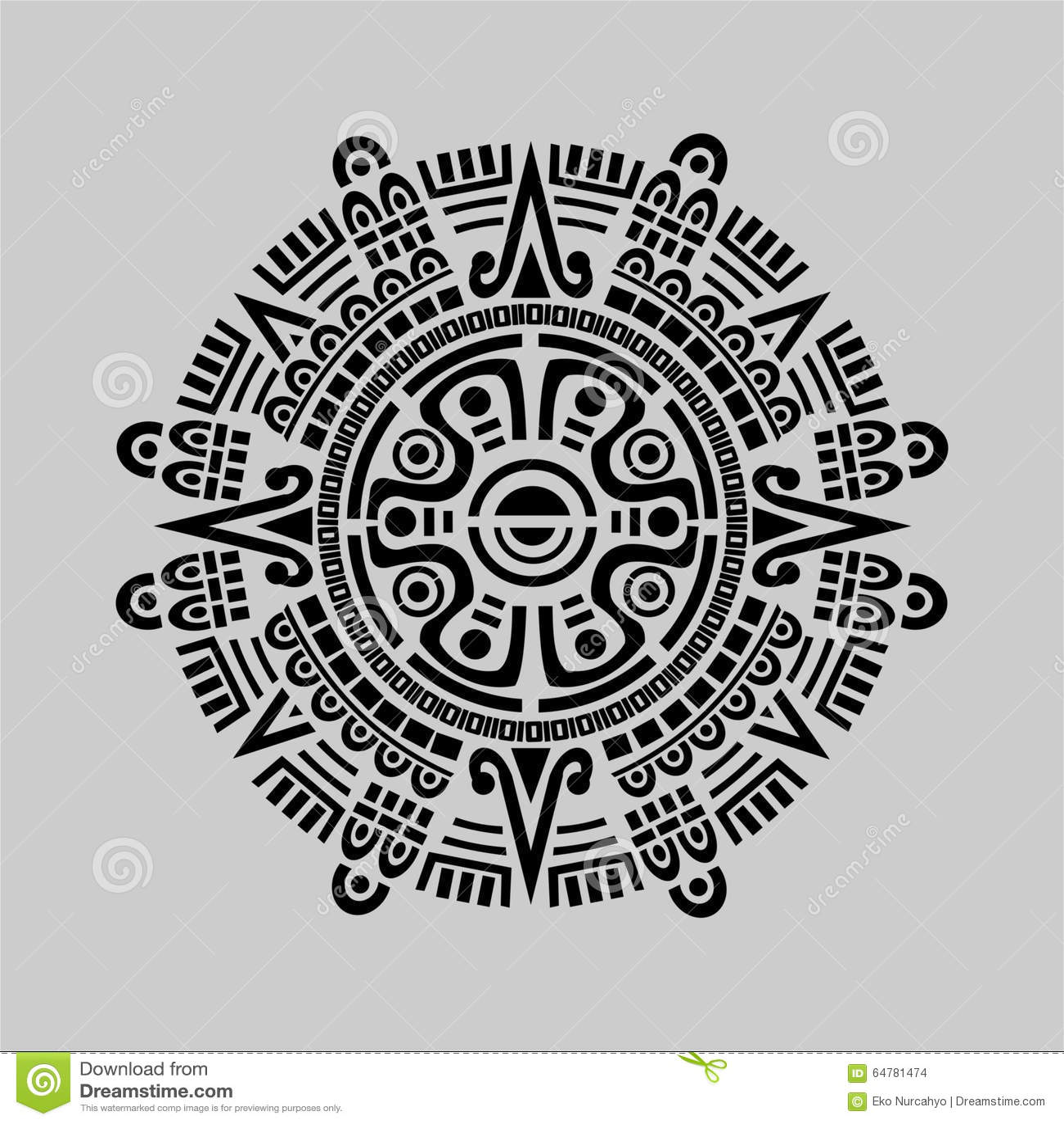 Calendario Inca Simbolos.Vector Maya Del Calendario Ilustracion Del Vector