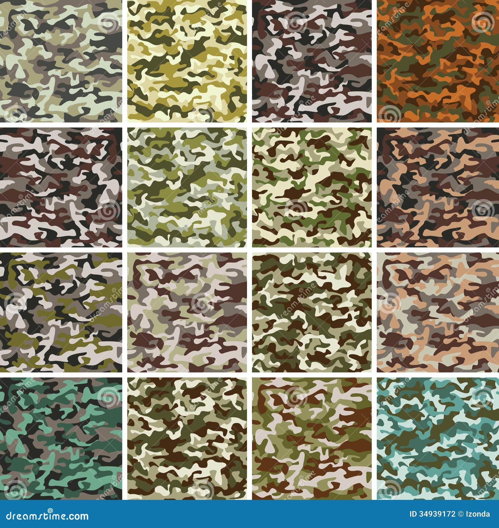 Vector Megareeks van Naadloos Camouflagepatroon