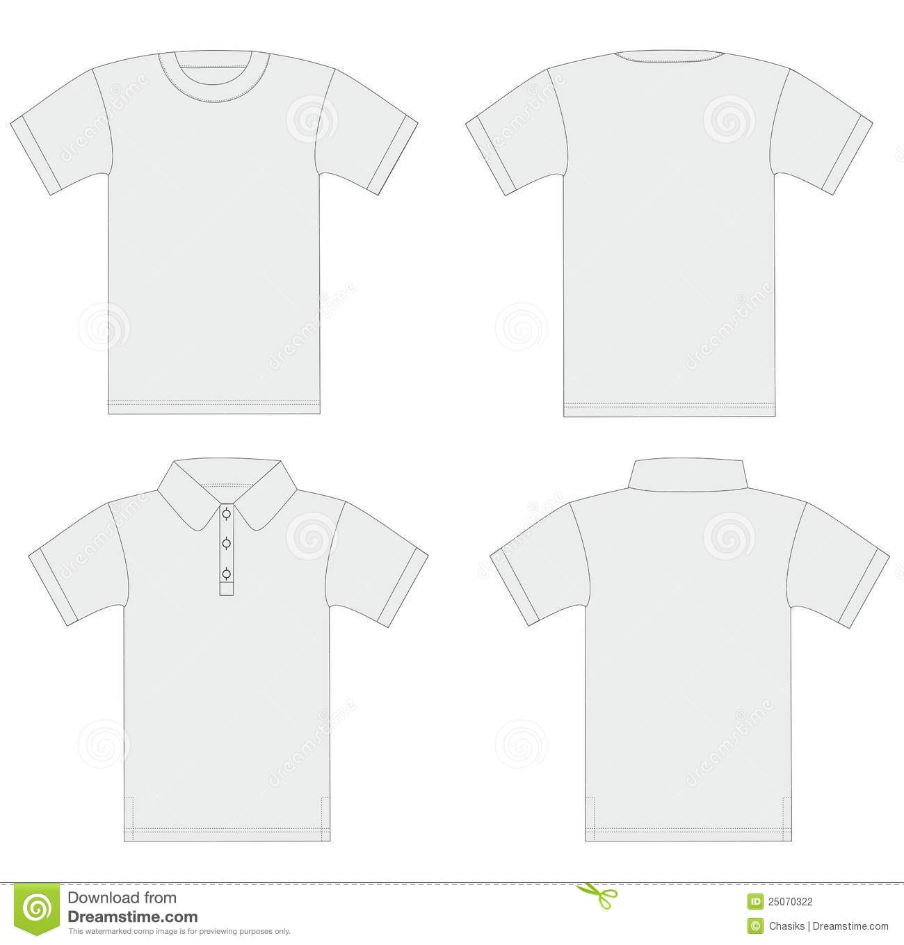 vector men 39 s t shirt and polo shirt template stock photography image 25070322. Black Bedroom Furniture Sets. Home Design Ideas