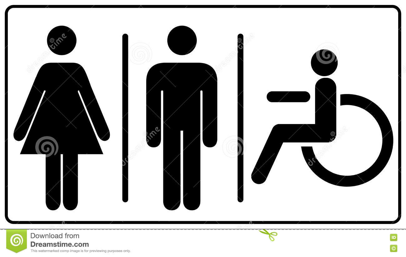 graphic relating to Restroom Out of Order Sign Printable identify Vector Mens And Womens Disabled Restroom Signage Fixed Inventory