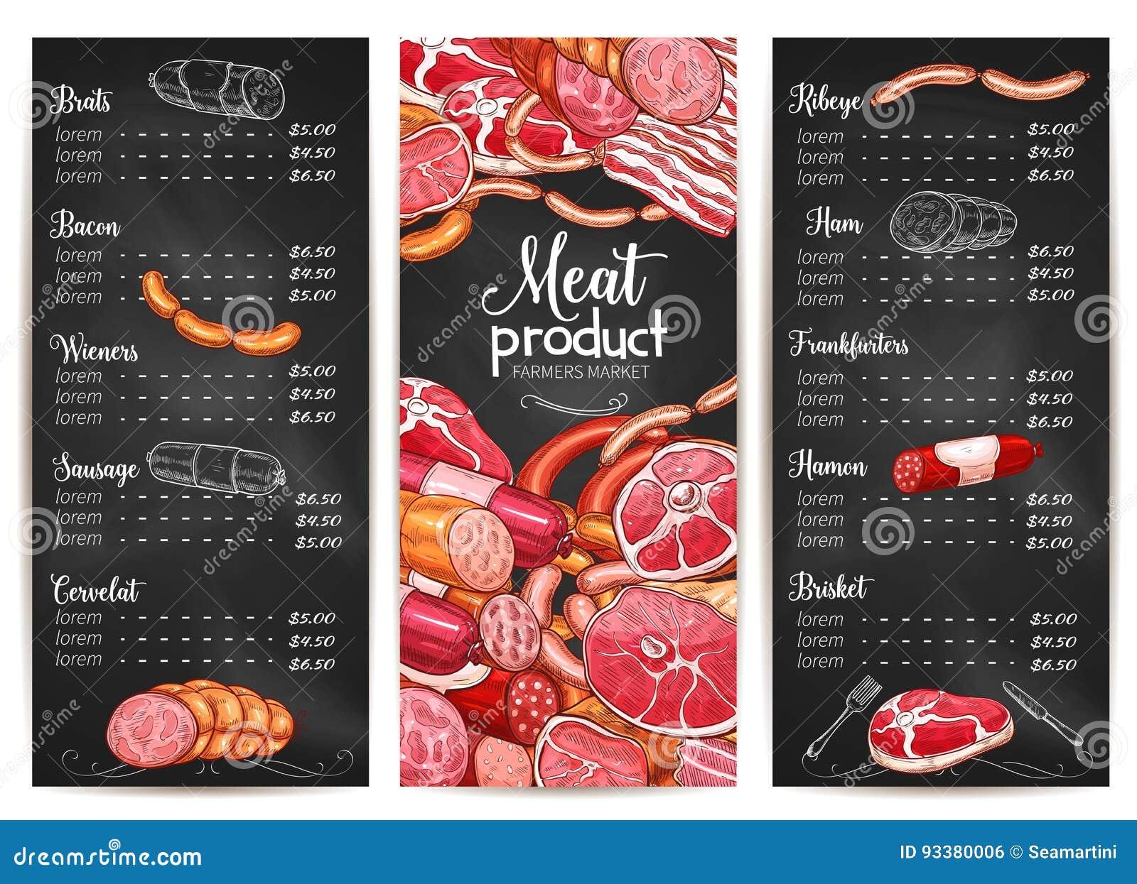 Meat Market Restaurant Menu
