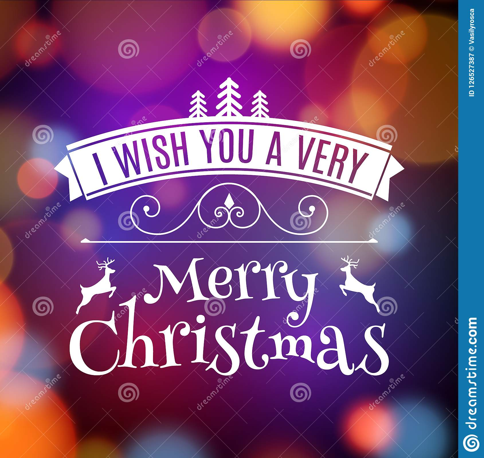 Vector Merry Christmas Card Poster Design Invitation