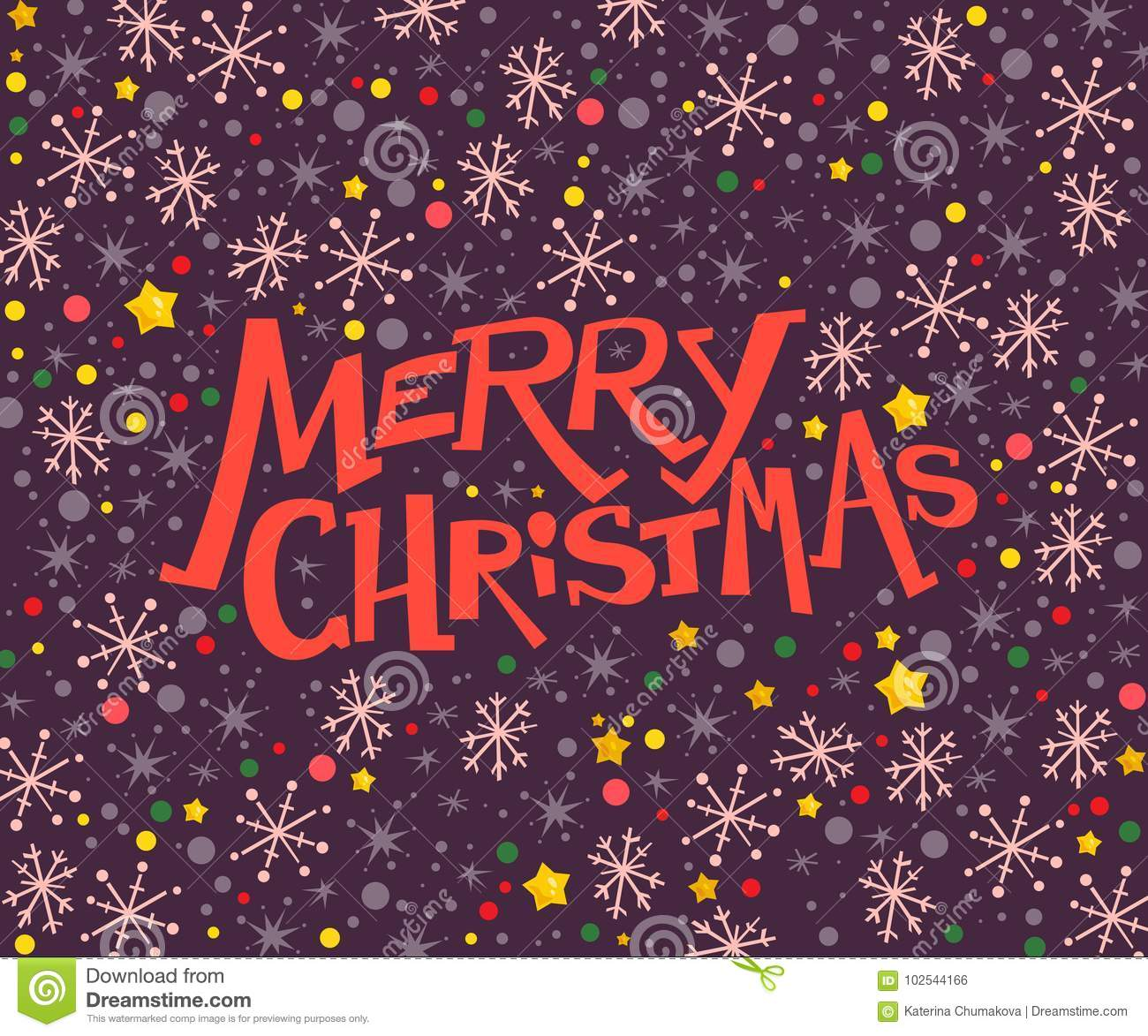 Vector Merry Christmas Congratulation Design With Text Message And