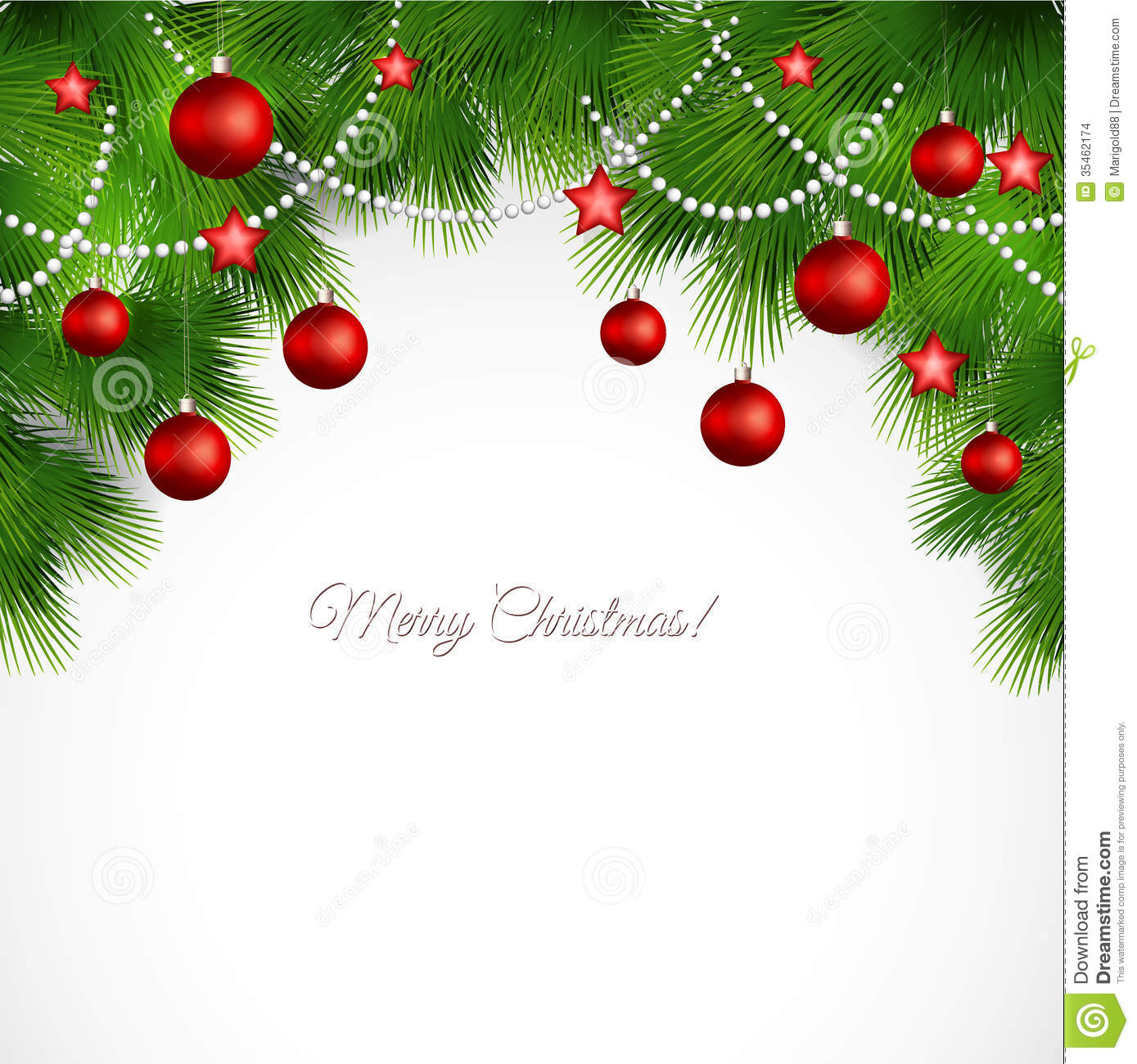 Vector Merry Christmas Greeting Card Stock Vector Illustration Of