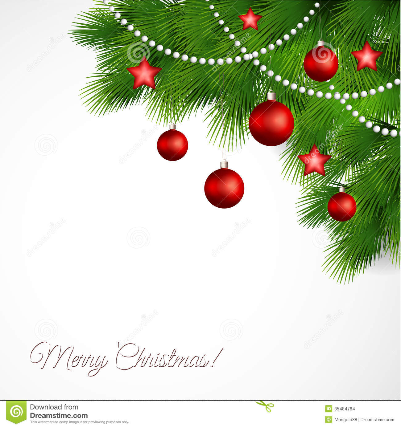 Merveilleux Vector Merry Christmas Greeting Card Stock Images