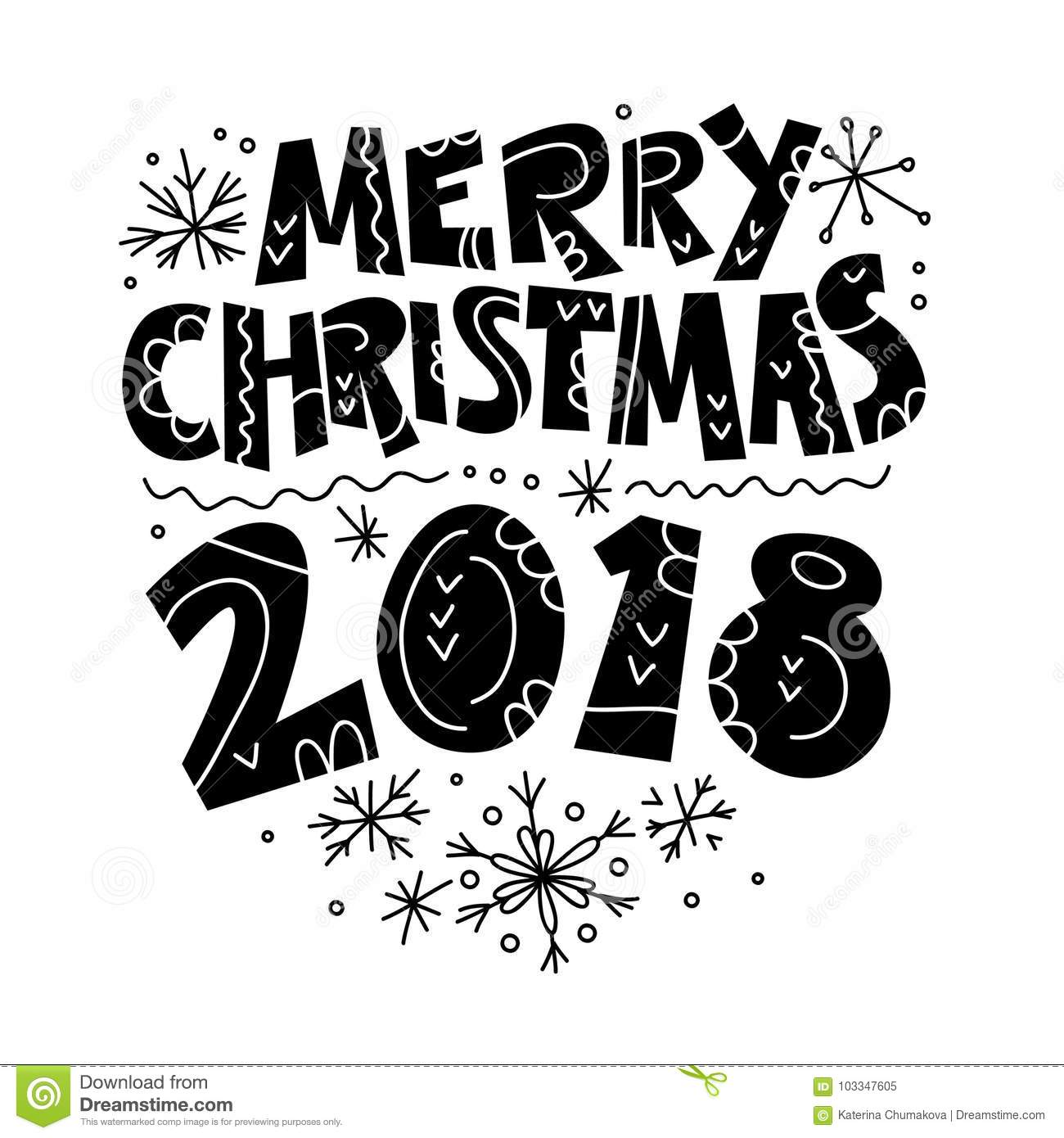 vector merry christmas and happy new year congratulation design isolated on white background