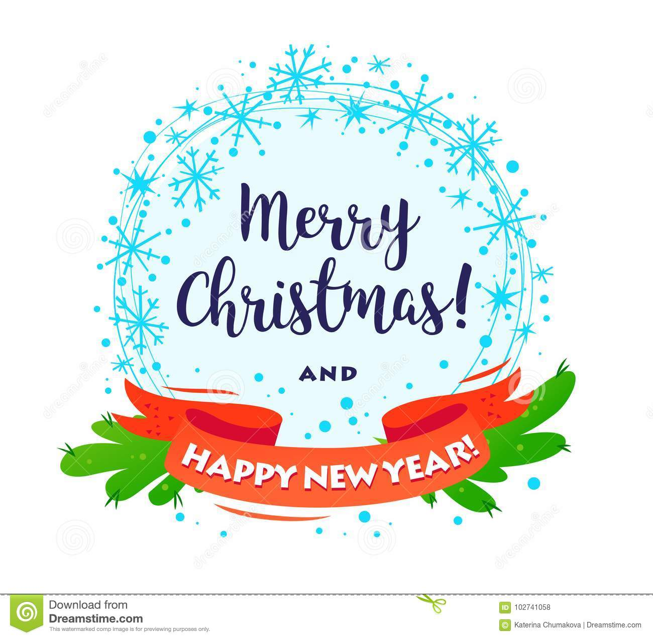 vector merry christmas happy new year decorated wreath with congratulation isolated on white background stock vector illustration of banner decoration 102741058 https www dreamstime com vector merry christmas happy new year decorated wreath congratulation isolated white background cartoon style illustration image102741058