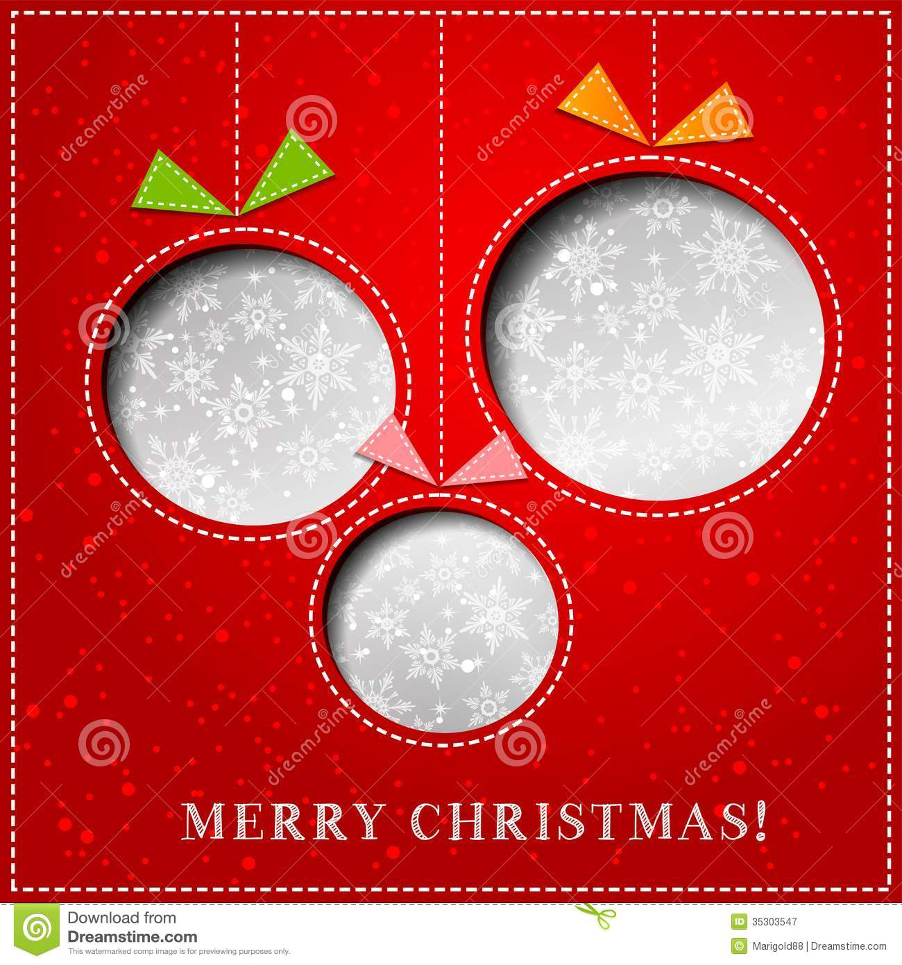 Charmant Vector Merry Christmas Paper Greeting Card. Decoration, Pattern.