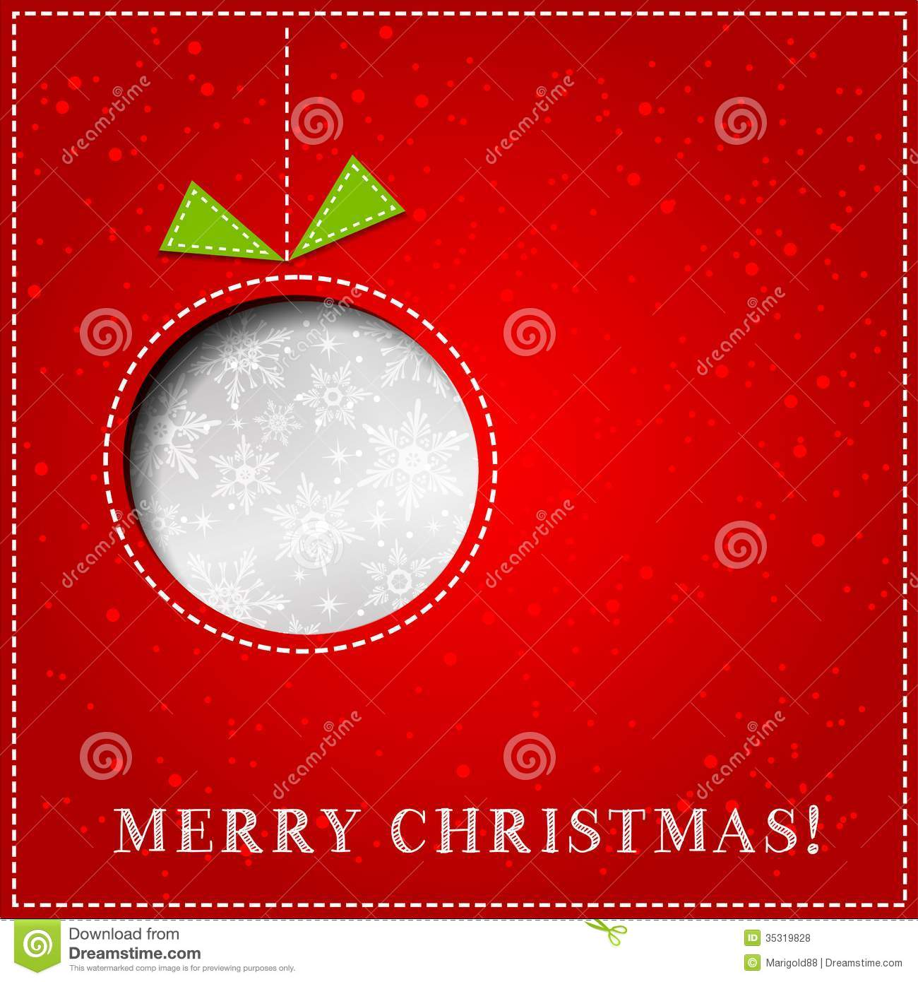 Genial Vector Merry Christmas Paper Greeting Card