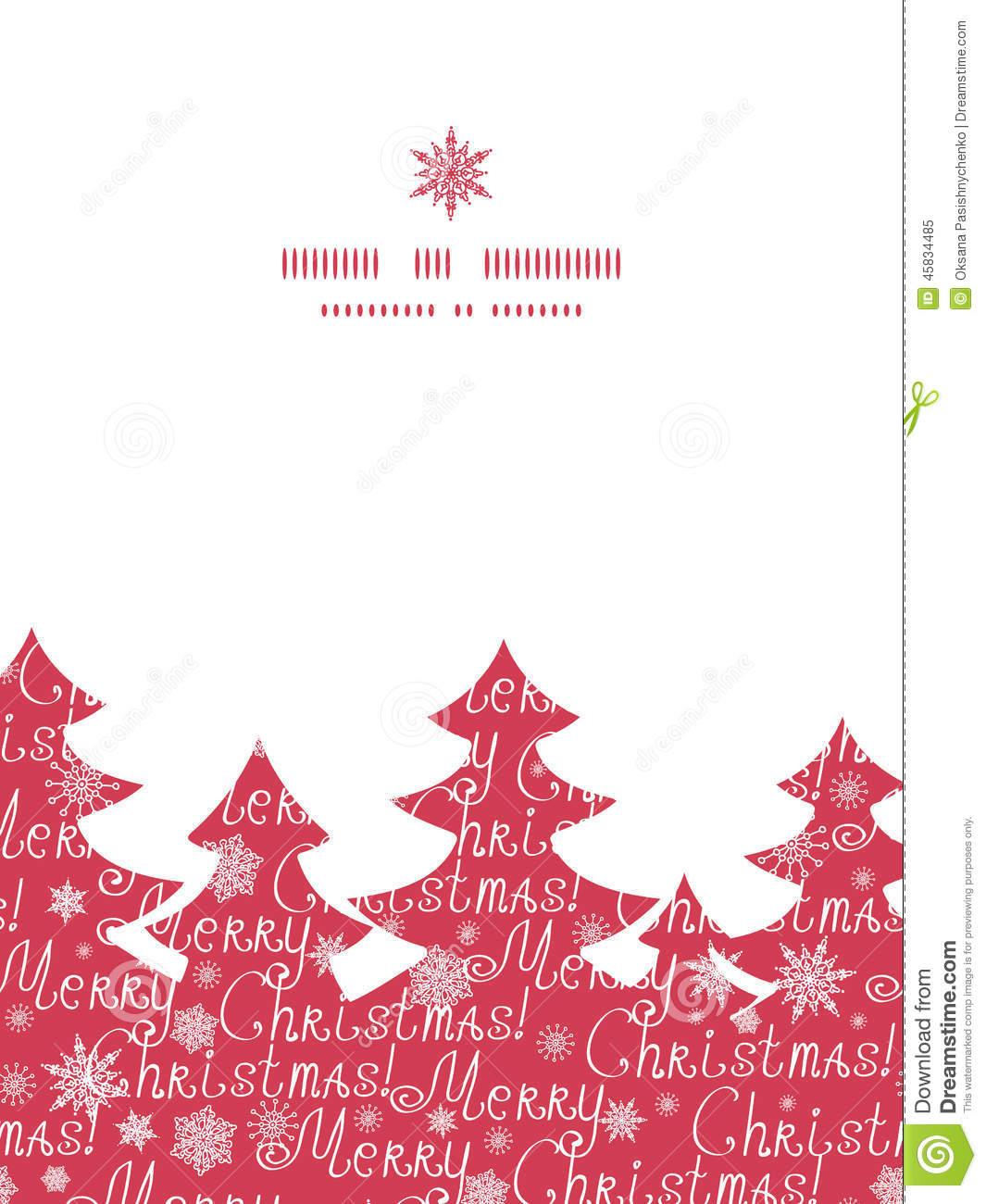 vector merry christmas text pine tree silhouette stock
