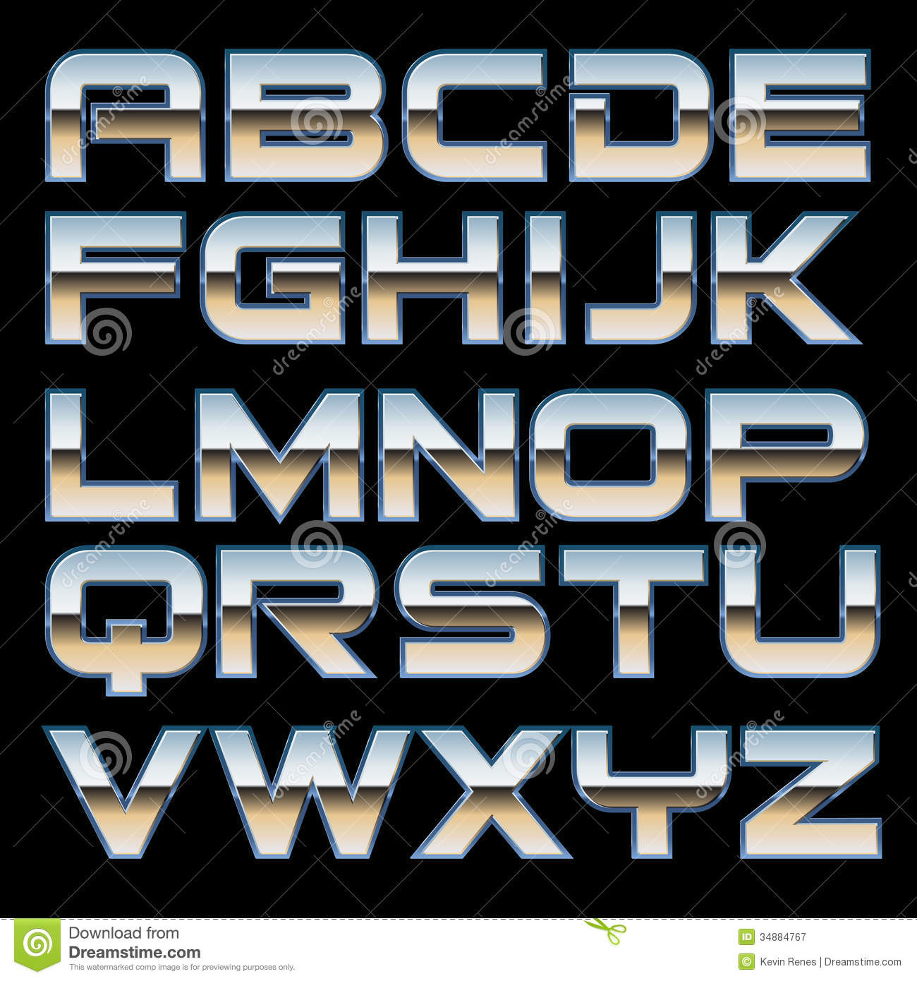 Royalty Free Stock Photography Vector Metal Font Characterset Style Image34884767 on Letter U Video Download