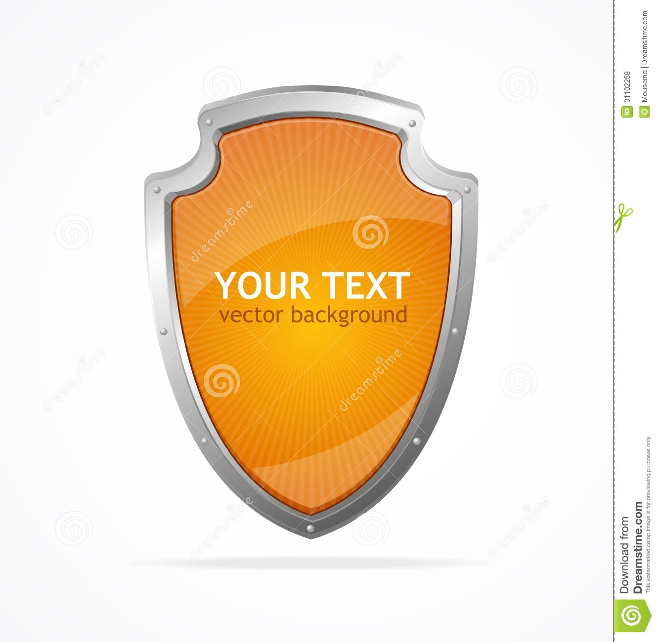 Vector Metal Shield Lke Speech Templates For Text Royalty