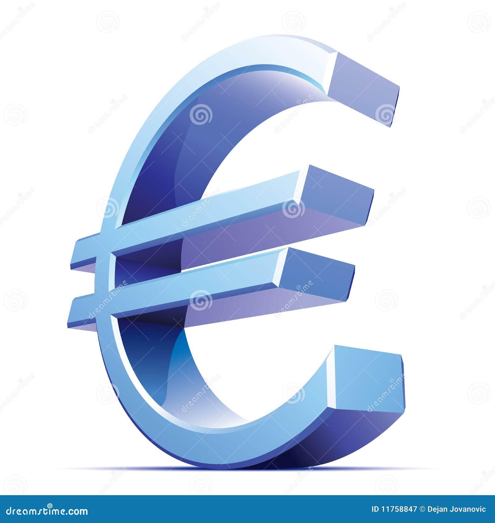 Vector metallic euro sign