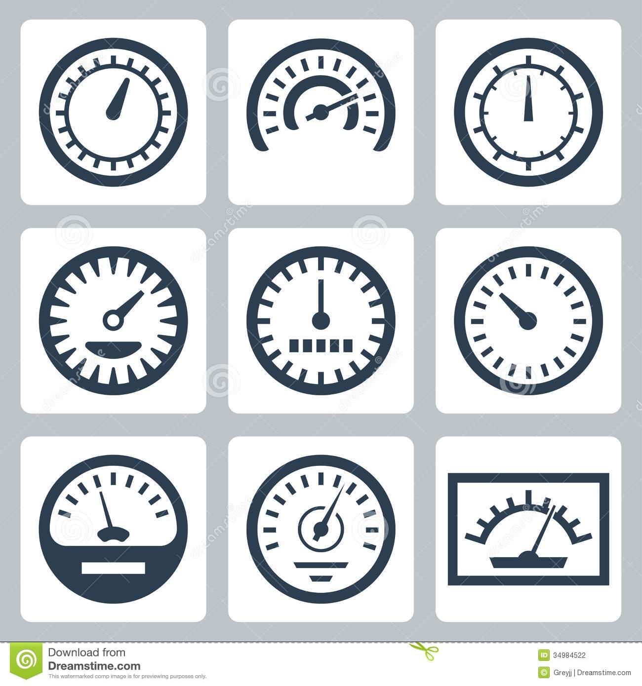 Vector meters icons set stock vector. Illustration of energy - 34984522