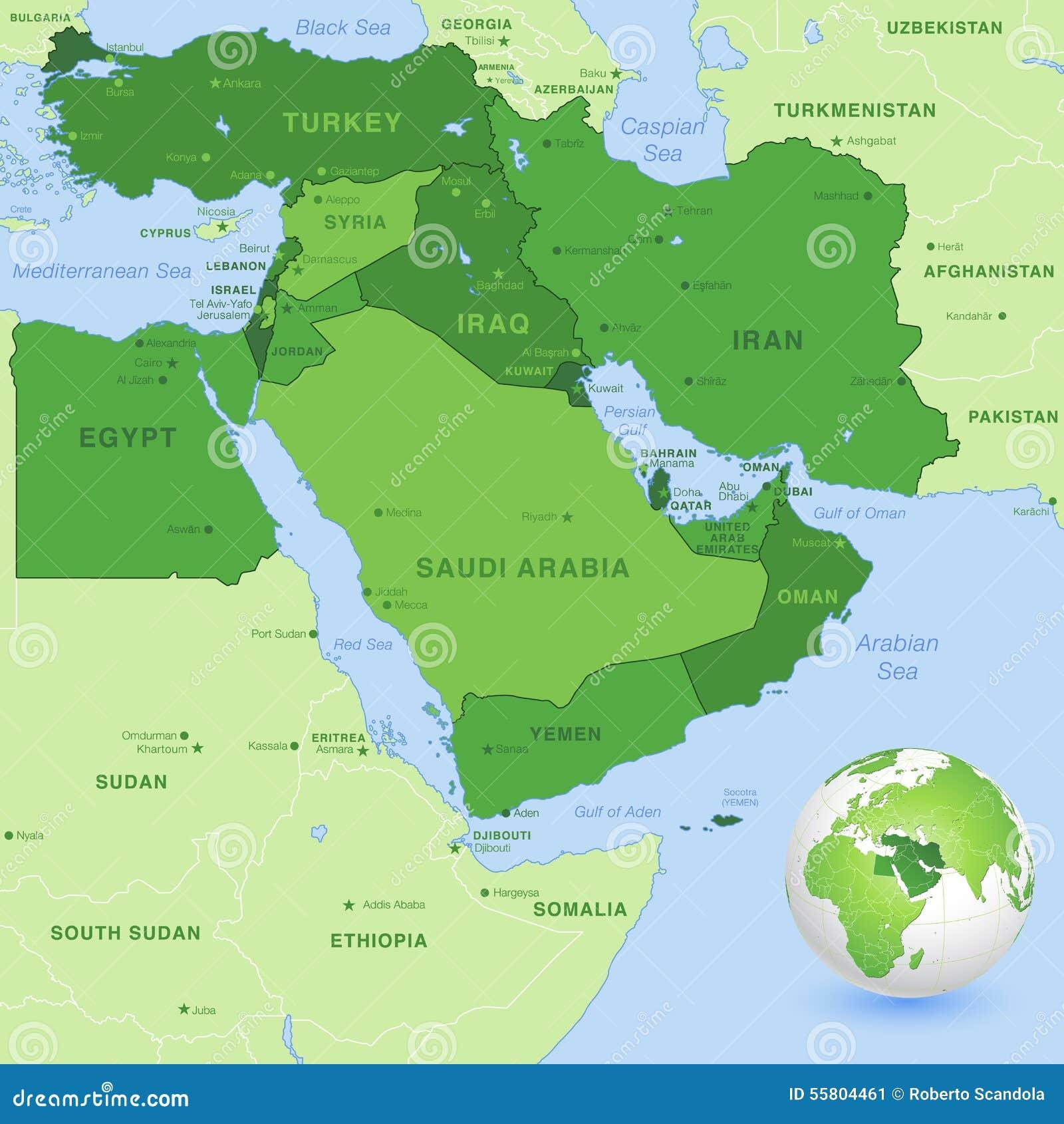 Mideast Map Mideast Map Middle East Rainfall