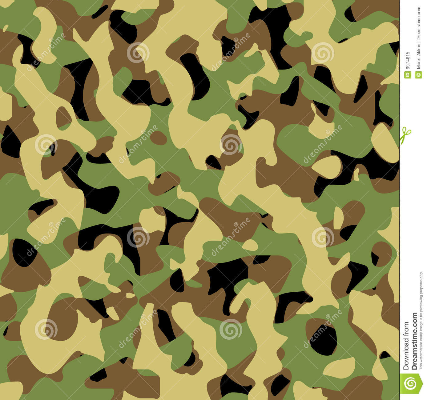 Vector Military Pattern Stock Vector Illustration Of