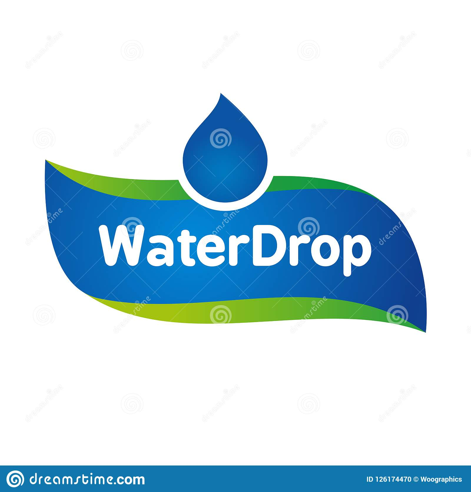 Vector Mineral Bottled Spring Water Logo Label Template Stock Vector