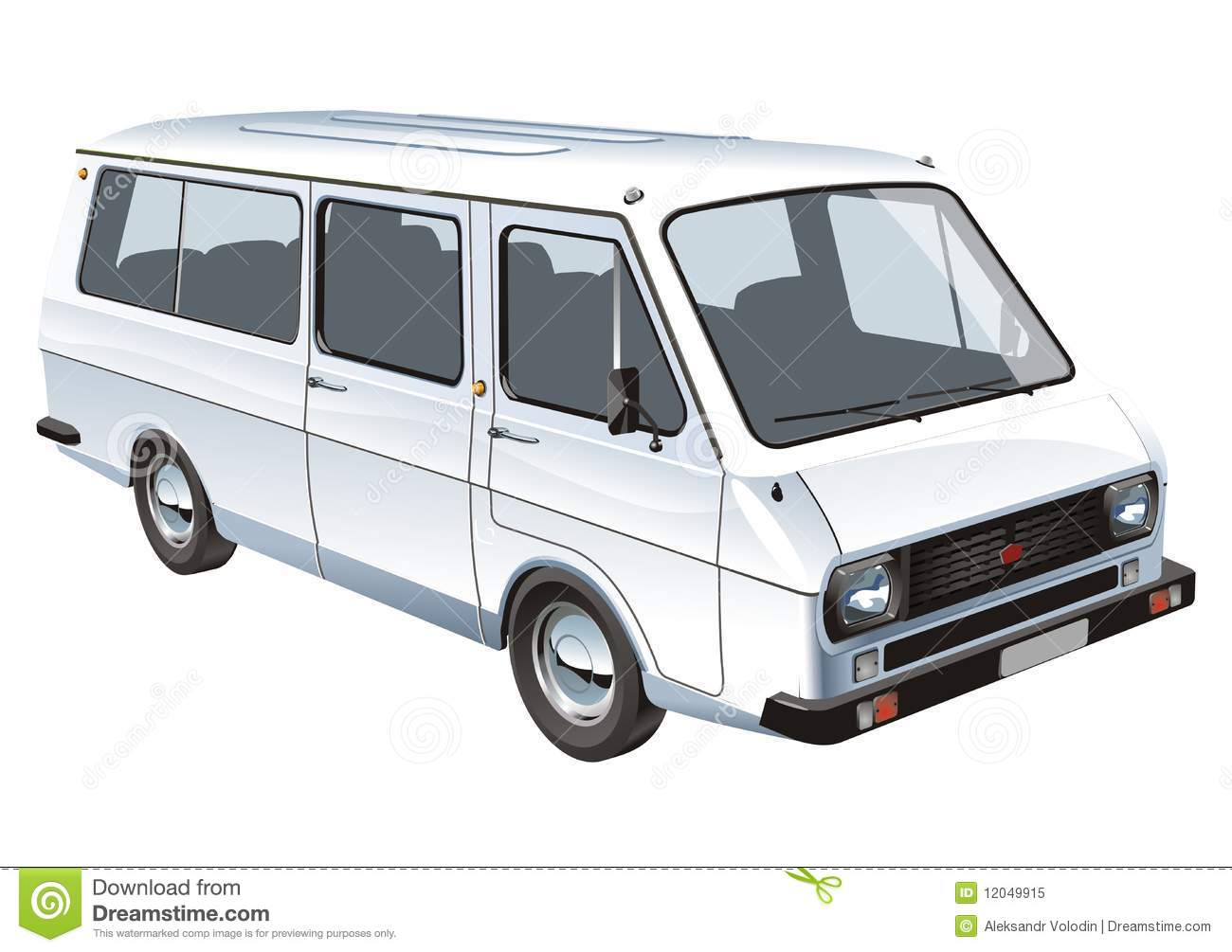 Vector Mini Bus Isolated Stock Vector Image Of Trip