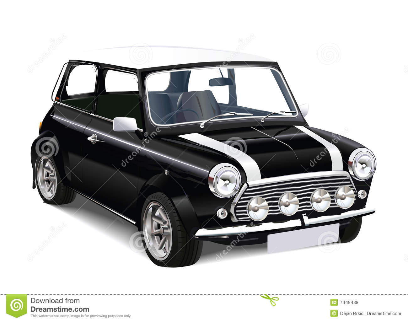 Vector Mini Cooper Royalty Free Stock Photos - Image: 7449438
