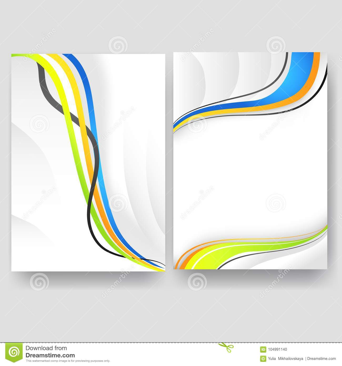 Vector Minimal Curve Wave Set Background With Shadow And