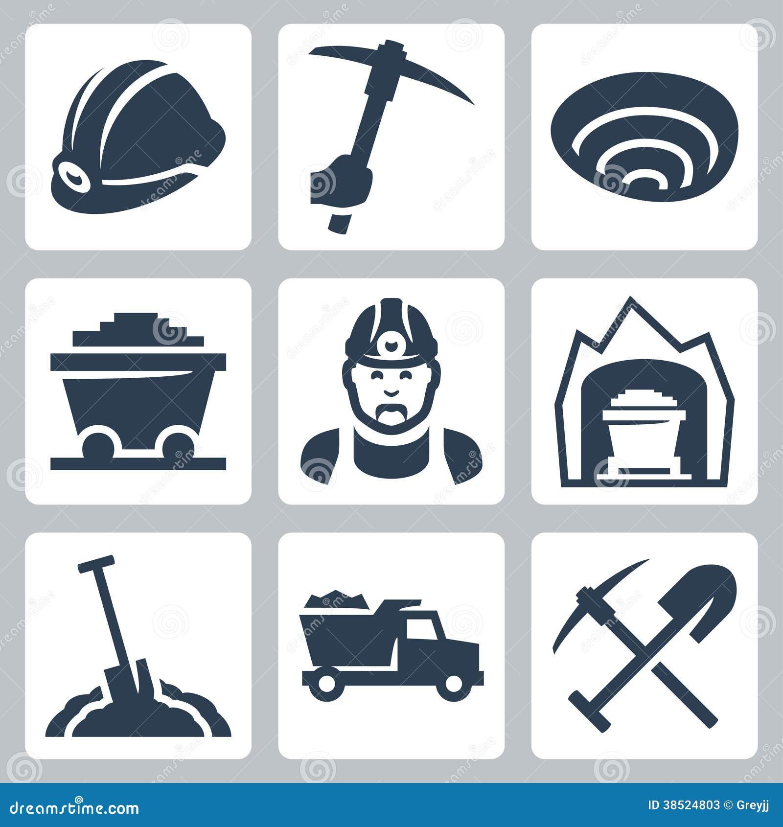 Vector Mining Icons Set Stock Photos Image 38524803