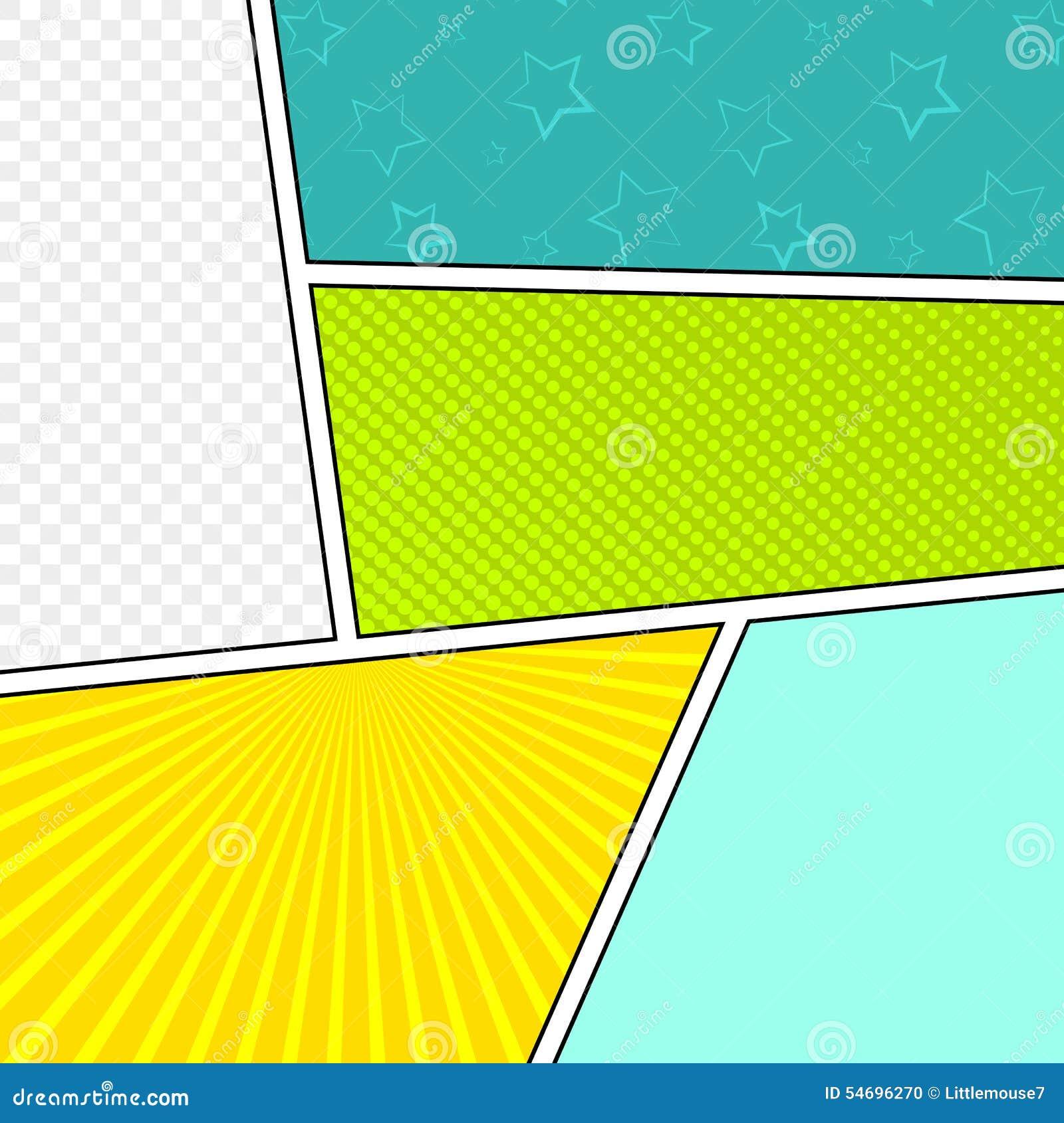 Blank Comic Strip Background Main