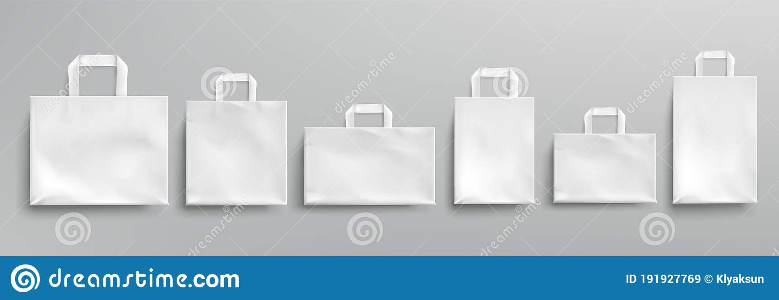 Vector Mockup Of White Paper Eco Bags Stock Vector Illustration Of Carry Background 191927769